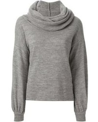 Pair silver leather slip-on sneakers with a cowl-neck sweater for an easy to wear look.