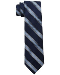 Cravate à rayures horizontales bleue marine Tommy Hilfiger