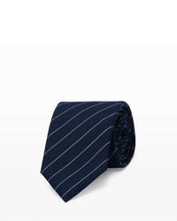 Cravate à rayures verticales bleu marine Club Monaco