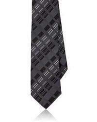 Cravate à rayures verticales noir