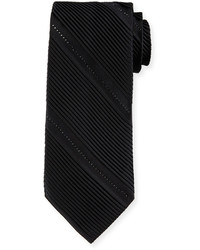 Cravate à rayures verticales noir Stefano Ricci