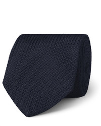Cravate bleu marine Drakes