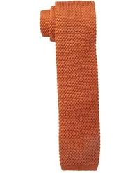 Cravate en laine orange Tommy Hilfiger