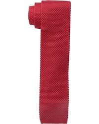 Cravate en laine rouge Tommy Hilfiger