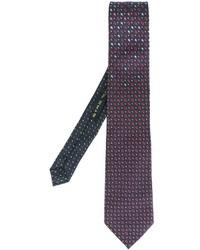 Cravate en soie imprimé bleu marine Etro