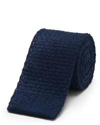 Cravate en tricot bleu marine Club Monaco