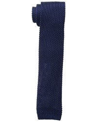 Cravate en tricot bleu marine Tommy Hilfiger