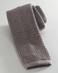 Cravate en tricot gris Charvet
