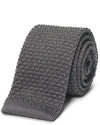 Cravate en tricot gris Club Monaco