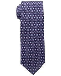 Cravate imprimé bleu marine Tommy Hilfiger