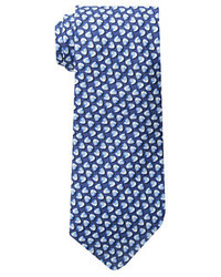 Cravate imprimé bleu marine Vineyard Vines