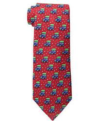 Cravate imprimée rouge Vineyard Vines