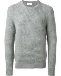 A jacket and a round-neck sweater is a versatile combination that will provide you with variety.