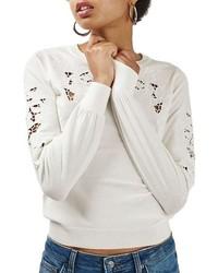 Cutout crew neck sweater original 9650079