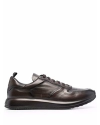 Officine Creative Race Lux Panelled Low Top Leather Sneakers