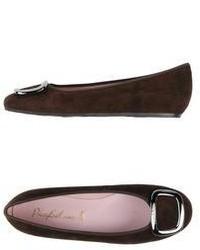 Dark Brown Ballerina Shoes