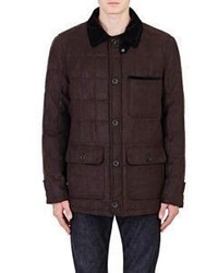 Rainforest Down Quilted Twill Barn Jacket Brown