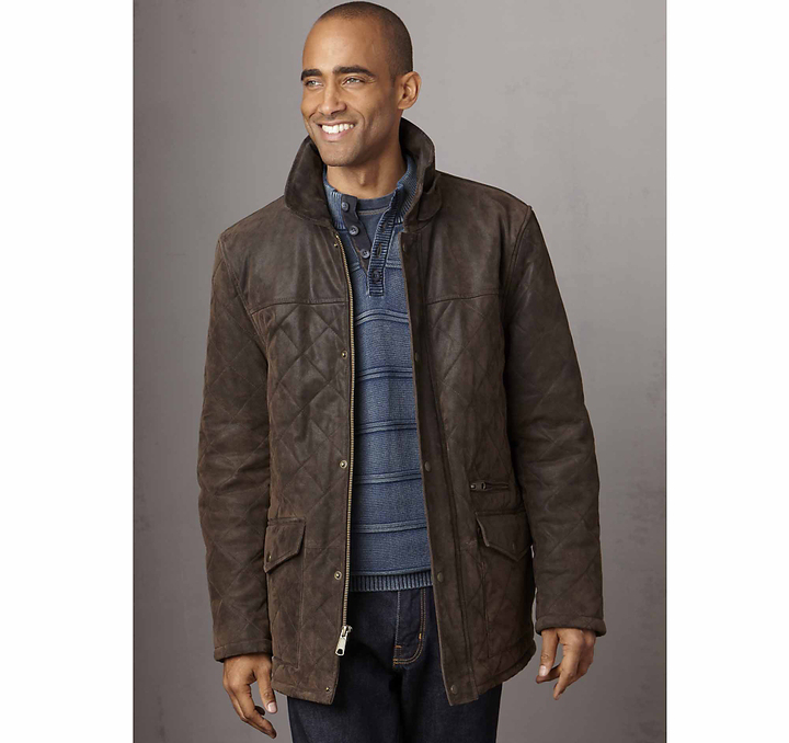a6947e56dea4a6 ... Johnston   Murphy Quilted Leather Barn Jacket ...
