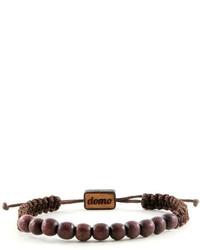 Domo Beads Wood Beaded Retractable Bracelet Brown