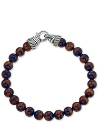Esquire Jewelry Red Tigers Eye Beaded Bracelet In Sterling Silver Only At Macys