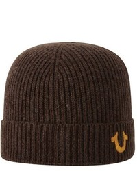 True Religion Brand Jeans Rib Knit Cap