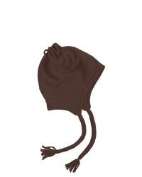 Grand Sierra Tasseled Super Soft Beanie Helmet Fleece Medium Brown