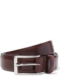 J.Crew 3cm Brown Glossed Leather Belt