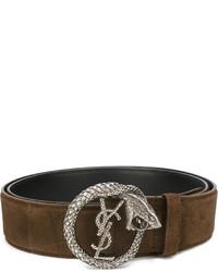 Saint Laurent Monogram Serpent Buckle Belt