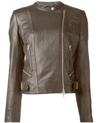 Dark brown biker jacket original 8877530
