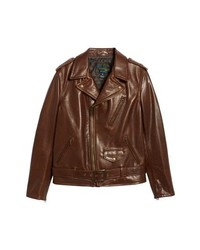 Schott NYC 50s Oil Tanned Cowhide Leather Moto Jacket