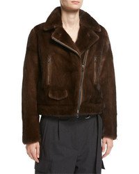 Reversible mink fur moto jacket medium 4948745