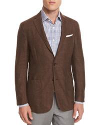Capri check two button sport coat brown medium 652818
