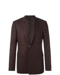 Givenchy Patterned Button Front Blazer Brown