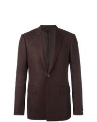 Patterned button front blazer brown medium 7131156