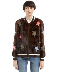 Stars mink fur bomber jacket medium 4417840