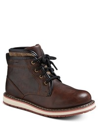 Eddie Bauer Boys Double Collar Herringbone Boots Brown