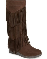 Kenneth Cole New York Girls Simona Fringe Boot