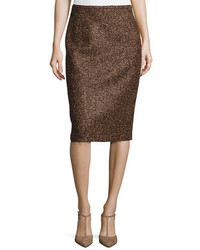 Michael Kors Michl Kors Wool Boucle Tweed Skirt