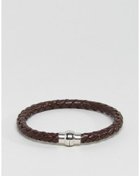 Jack and Jones Jack Jones Jackrick Clasp Bracelet In Brown