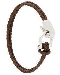 Salvatore Ferragamo Braided Gancio Clasp Bracelet