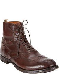 Dark Brown Brogue Boots