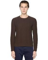 Boglioli Wool Blend Cable Knit Sweater
