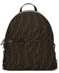 Fendi Brown Tan Ff Vertigo Backpack