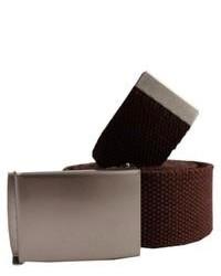 Dark Brown Canvas Belt