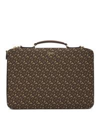 Dark Brown Canvas Briefcase