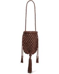 Nannacay Electra Tasseled Crocheted Shoulder Bag