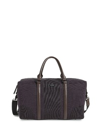 Dark Brown Canvas Duffle Bag