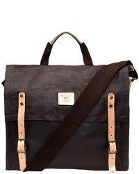 Will Leather Goods Waxed Canvas Messenger Bag