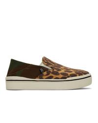 R13 Multicolor Cheetah Camo Sneakers