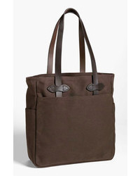 Dark Brown Canvas Tote Bag